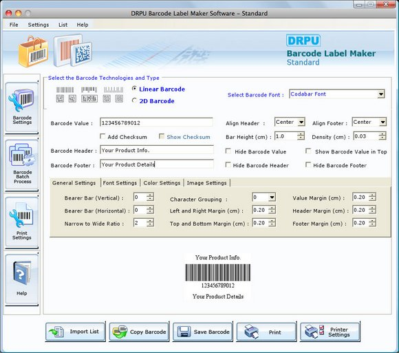 Free Barcode Software for MAC OS X