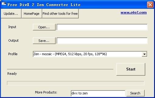 Free DivX 2 Zen Converter Lite