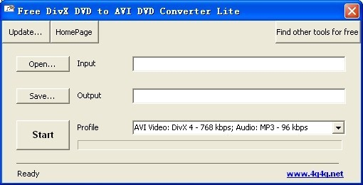 Free DivX DVD to AVI DVD Converter Lite