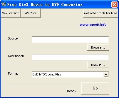 Free DivX Movie to DVD Converter