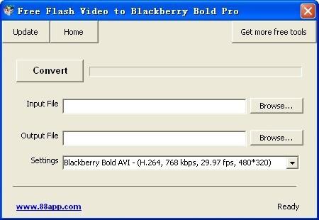 Free Flash Video to Blackberry Bold Pro