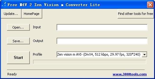 Free M4V 2 Zen Vision m Converter Lite