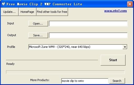 Free Movie Clip 2 WMP Converter Lite