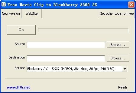 Free Movie Clip to Blackberry 8300 SE