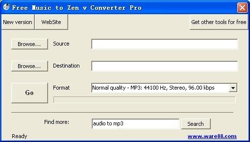 Free Music to Zen v Converter Pro