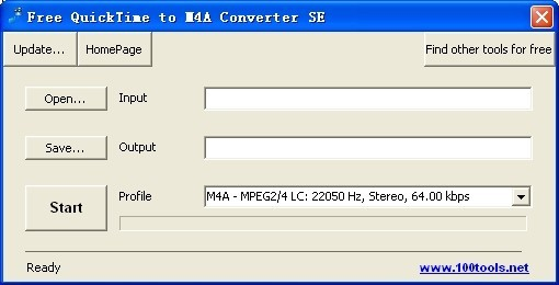 Free QuickTime to M4A Converter SE