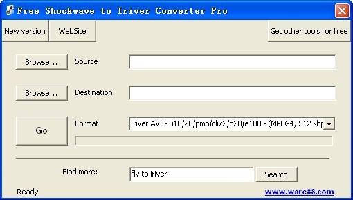 Free Shockwave to Iriver Converter Pro