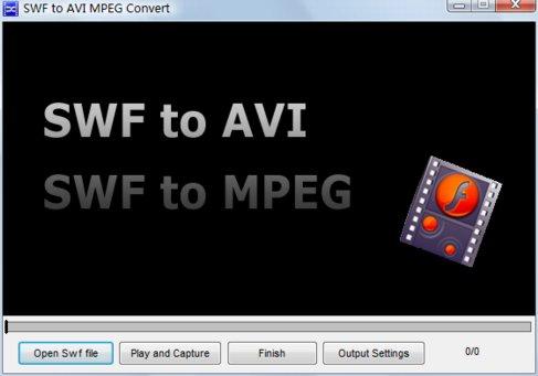 Free SWF to AVI MPEG Convert