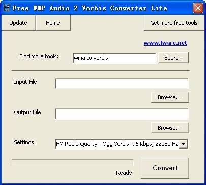 Free WMP Audio 2 Vorbis Converter Lite