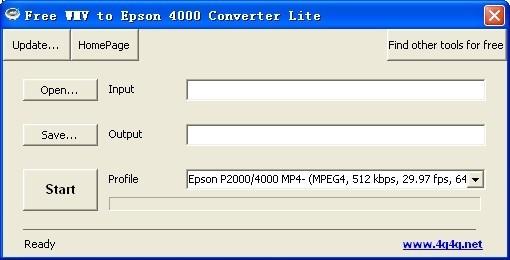 Free WMV to Epson 4000 Converter Lite
