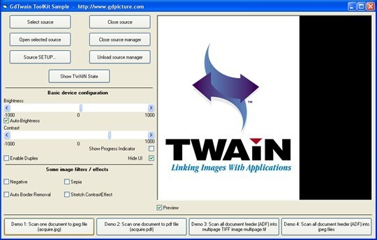 GdTwain ActiveX - Site License