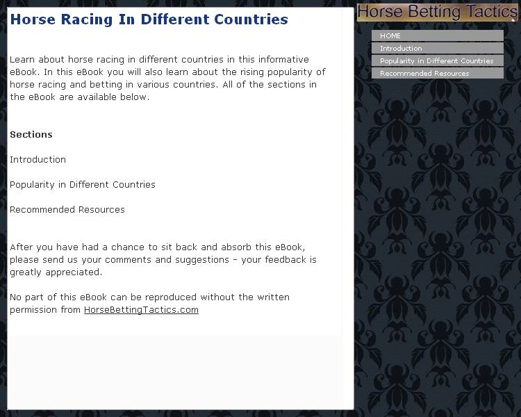 Horse Racing In Different Countries