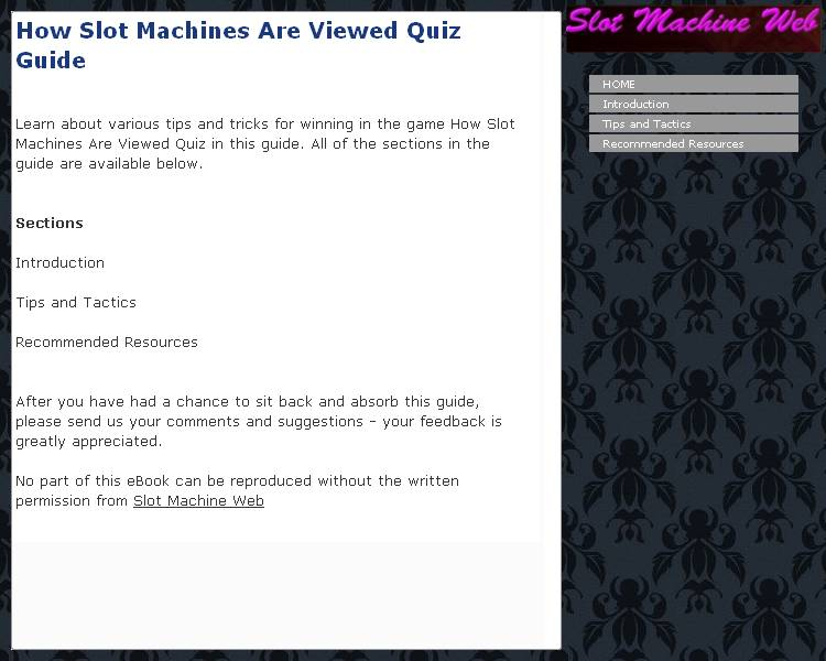 How Slot Machines Are Viewed Quiz Guide