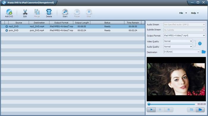 iFunia DVD to iPad Converter