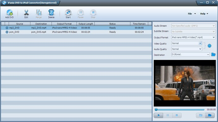 iFunia DVD to iPod Converter