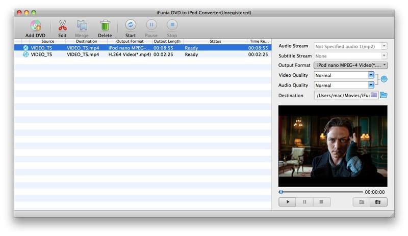 iFunia DVD to iPod Converter for Mac