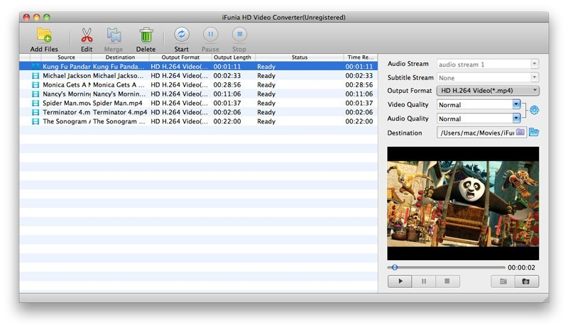 iFunia HD Video Converter for Mac