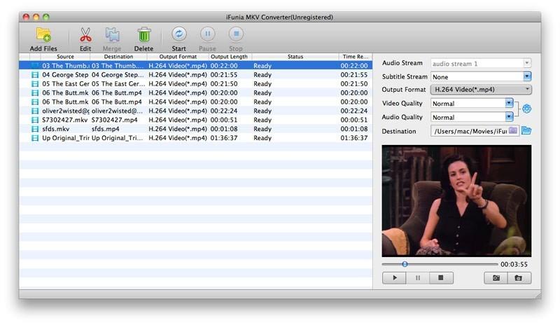 iFunia MKV Converter for Mac