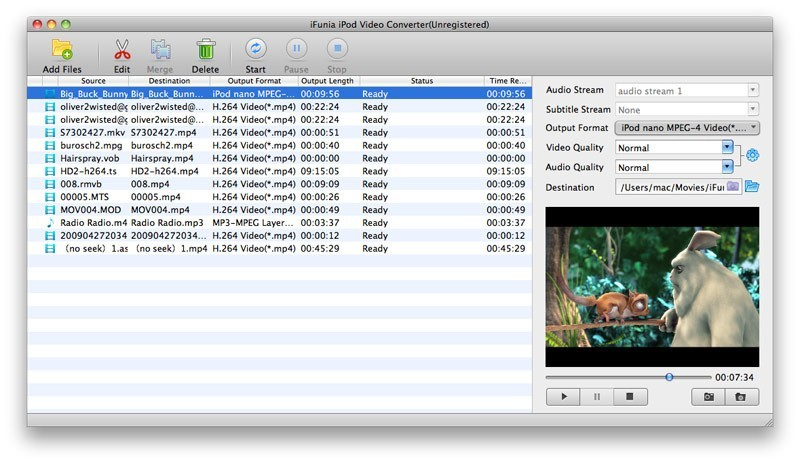 iFunia iPod Video Converter for Mac