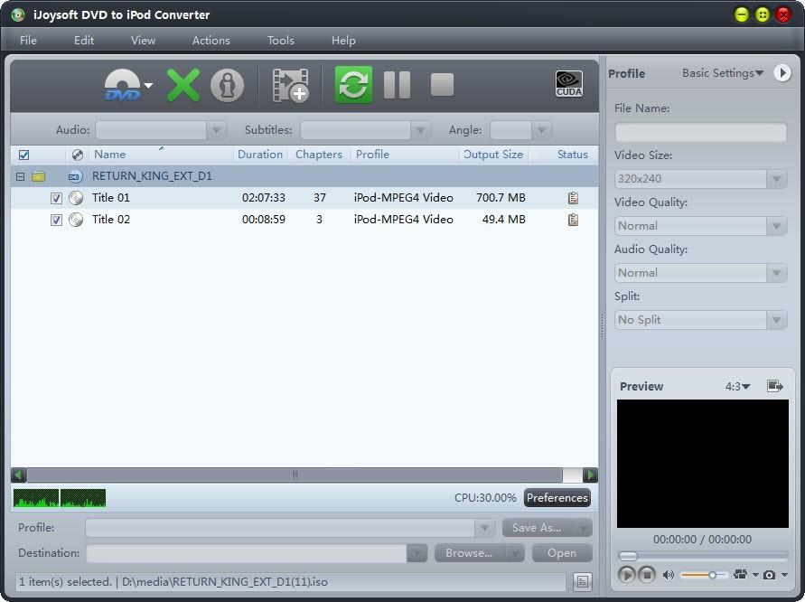 iJoysoft DVD to iPod Converter