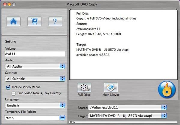 iMacsoft DVD Copy for Mac