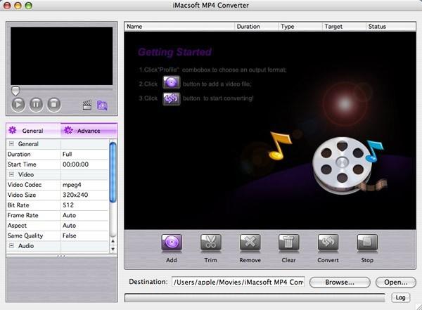 iMacsoft MP4 Converter for Mac