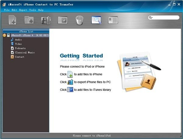 iMacsoft iPhone Contact to PC Transfer