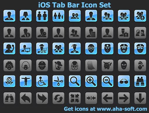 iOS Tab Bar Icon Set