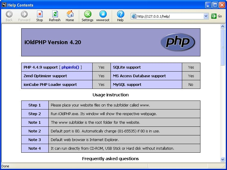 iOldPHP