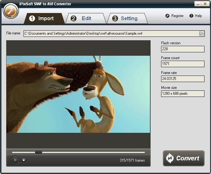 iPixSoft SWF to AVI Converter