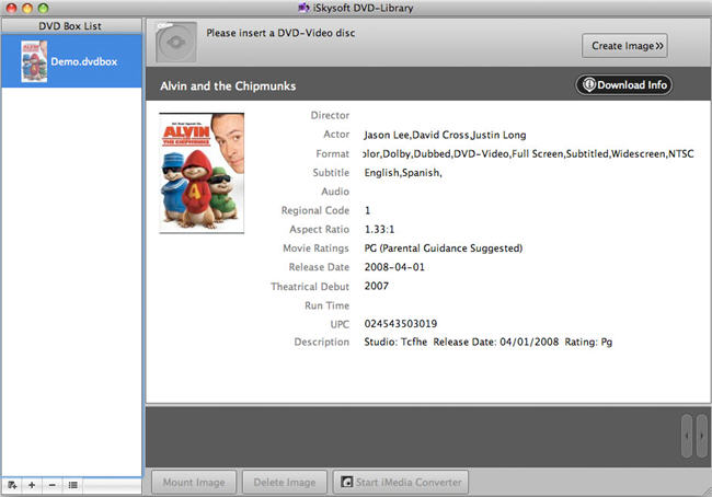 iSkysoft DVD-Library for Mac