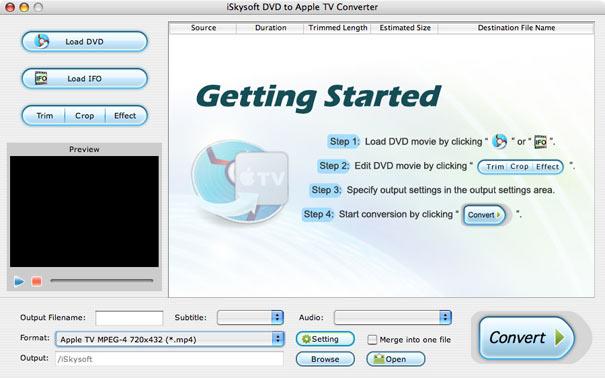 iSkysoft DVD to Apple TV Converter for Mac