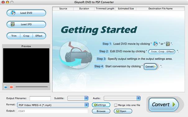 iSkysoft DVD to PSP Converter for Mac