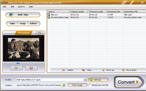 PSP Movie Converter