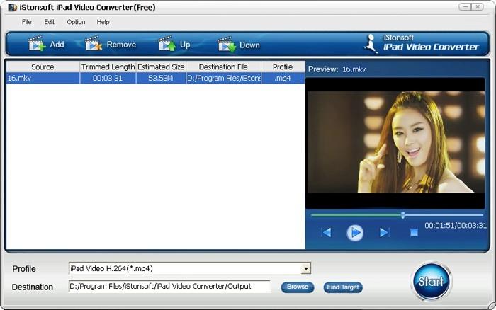 iStonsoft Free iPad Video Converter