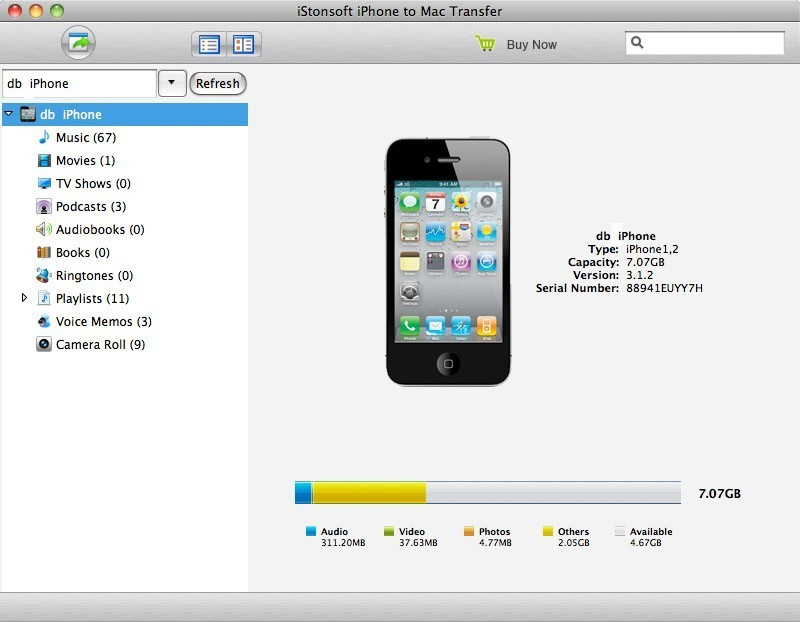iStonsoft iPhone to Mac Transfer
