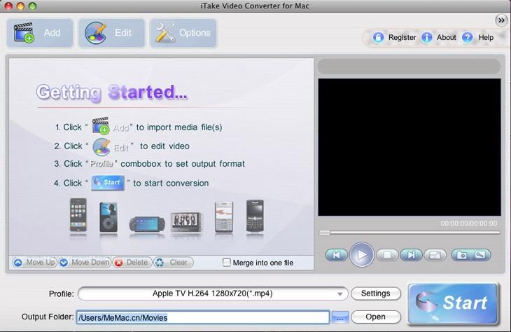 iTake Video Converter for Mac