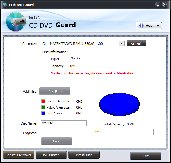 imlSoft CD DVD Guard