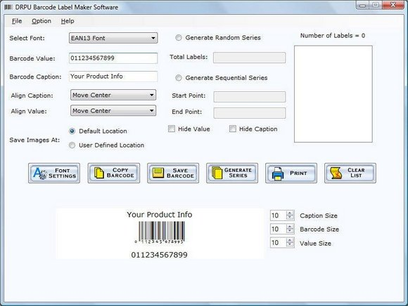 Inventory Barcode Labels Maker