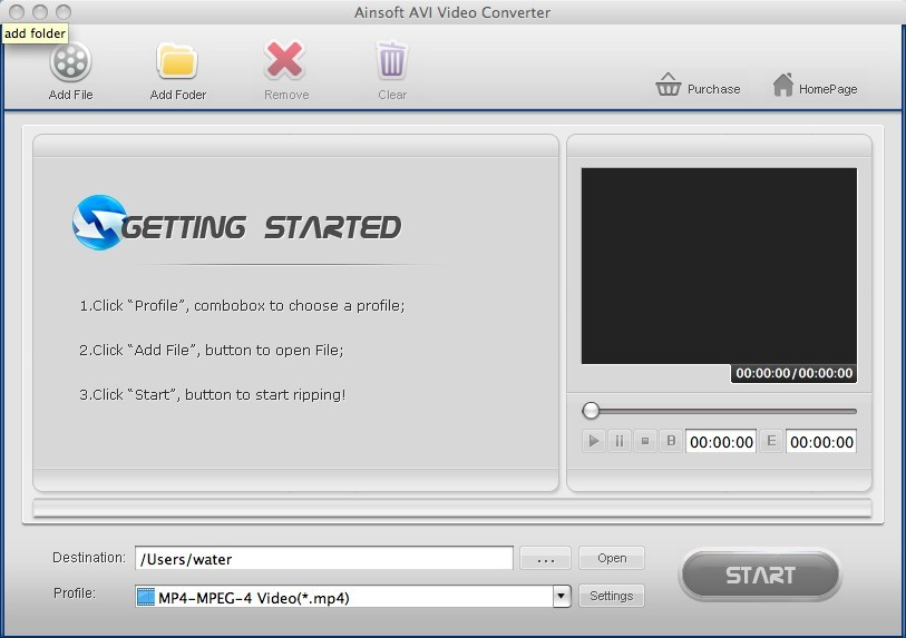 iovSoft AVI Video Converter for Mac