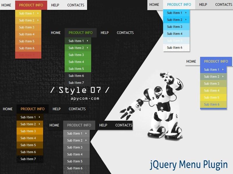 jQuery Menu Plugin Style 07
