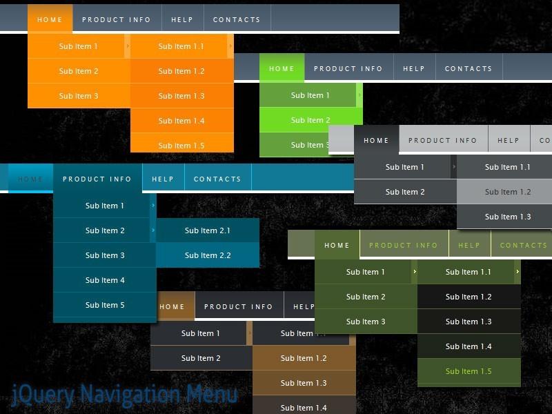 jQuery Navigation Menu Style 10