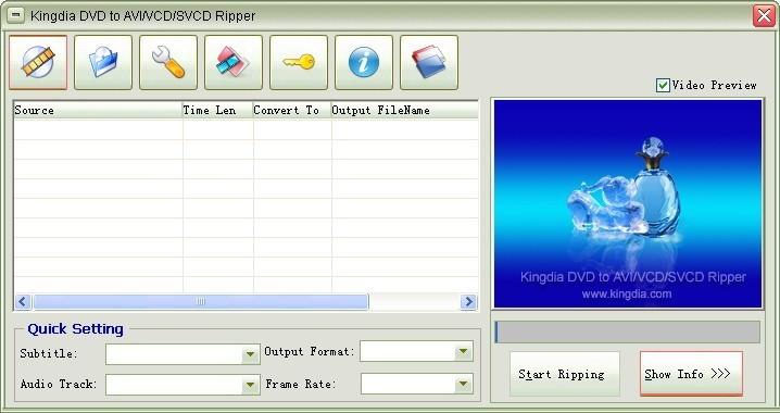 Kingdia DVD to AVI/VCD/SVCD Ripper