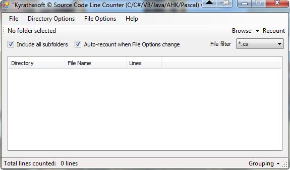 Kyrathaba's Source Code Line Counter
