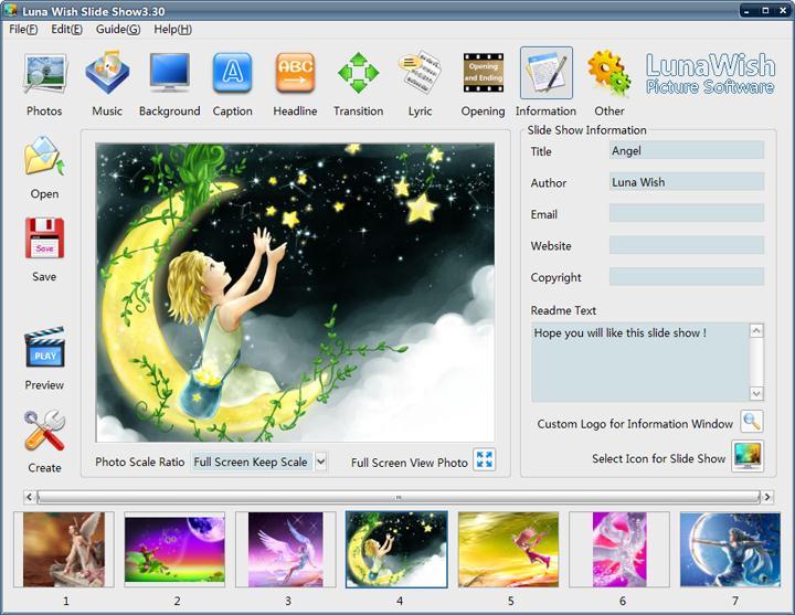 Luna Wish Slide Show