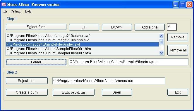Minos Album Freeware Version