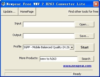 Newpear Free WMV 2 H263 Converter Lite