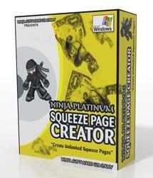 Ninja Platinum Squeeze Page Creator