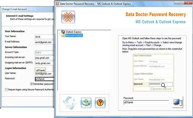 Outlook Email Password Recovery Tool