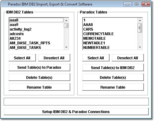 Paradox IBM DB2 Import, Export & Convert Software